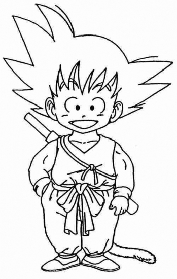 son goku coloring pages