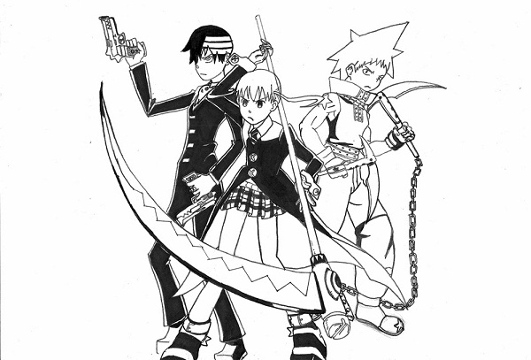 Printable Soul Eater Coloring Pages Coloringme Com