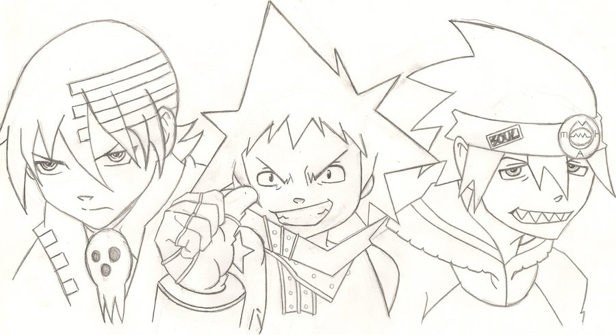 coloring pages of soul eater - photo#23