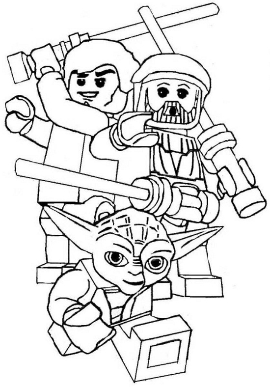 star wars lego coloring pages - Star Wars Lego Coloring Pages