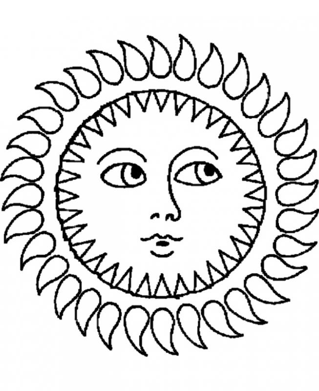 Sun Coloring Page for Adults | Coloring Me