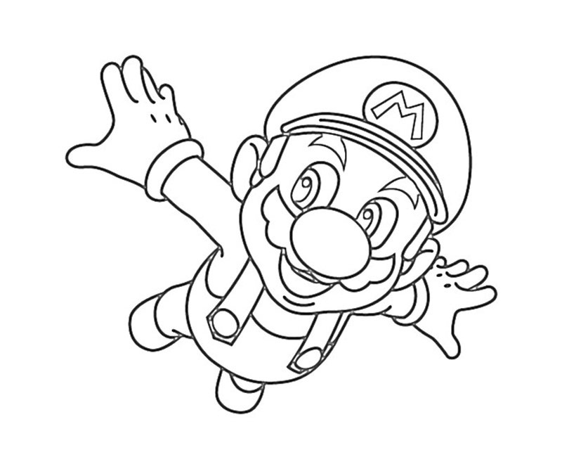 mega mario coloring pages - photo#5