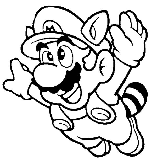 mega mario coloring pages - photo#9