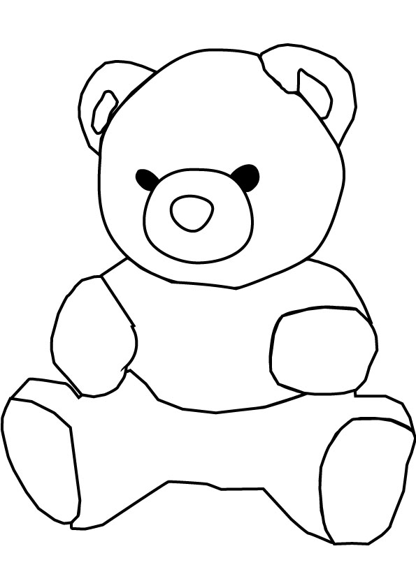 Printable Teddy Bear Coloring Pages Me