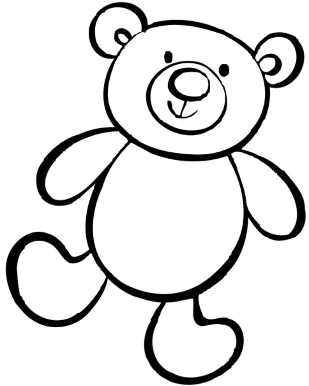 Free Printable Teddy Bear Coloring Pages For Kids | 768x616