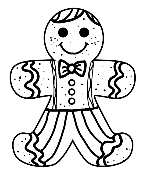 Printable Gingerbread Man Coloring Pages | Coloring Me