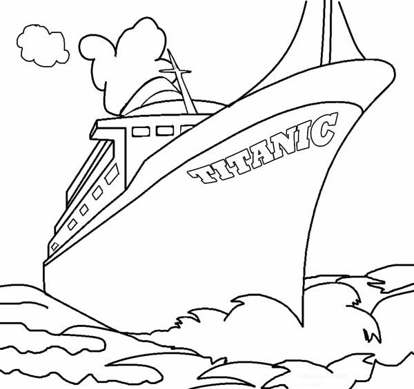 Printable Titanic Coloring Pages | Coloring Me