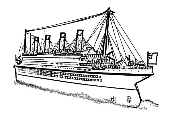 Anic ship coloring pages murderthestout for Titanic coloring pages to print