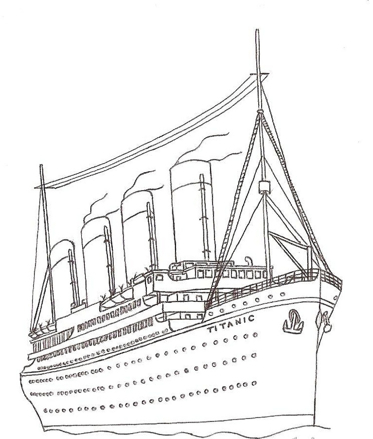 Titanic jack and rose free coloring pages for Titanic coloring pages to print
