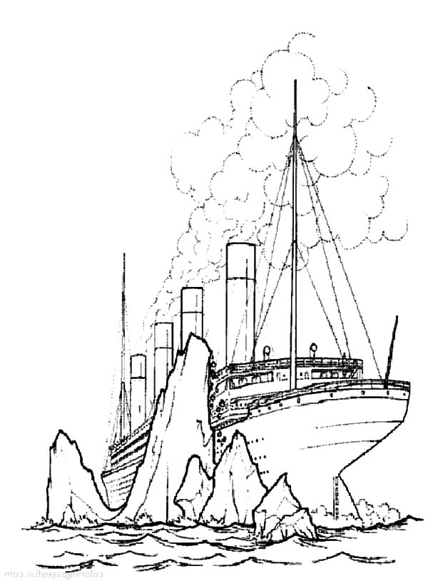 Iceberg coloring page images for Titanic coloring pages to print