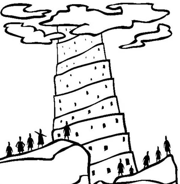 Printable Tower Of Babel Coloring Pages Me
