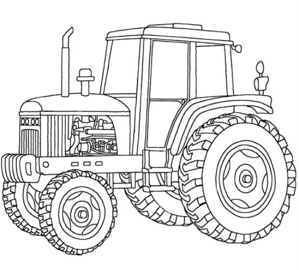 Printable Tractor Coloring Pages Me Download John Johnny Deere Wecoloringpage Images