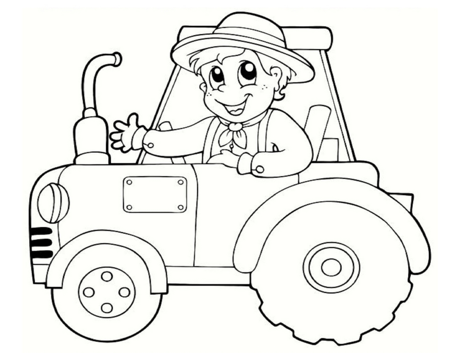 tractor coloring pages for toddleers - photo#20