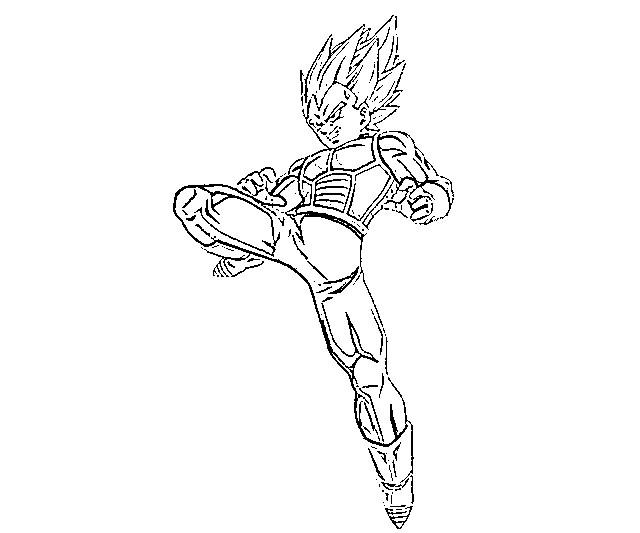 Ssj4 Gogeta Coloring Pages: Vegeta Printable Coloring Pages