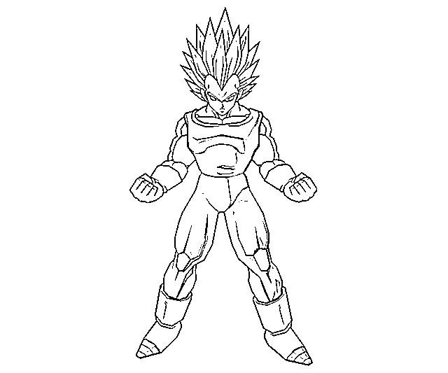 Printable Vegeta Coloring Pages Coloringme Com