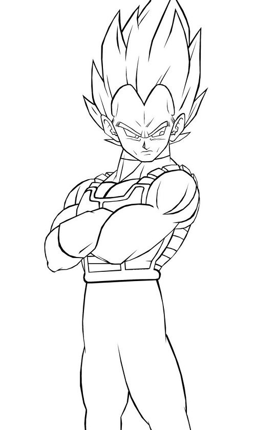 Printable Vegeta Coloring Pages Coloring Me Vegeta Saiyan 4 Coloring Pages
