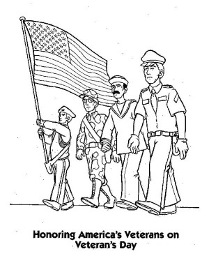 Veterans Day - Free coloring pages 012 | 400x300