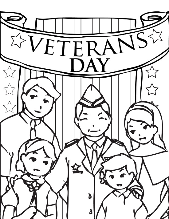 veterans day online coloring pages - photo#6