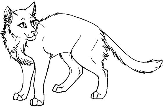 warrior cat coloring page - Cat Coloring Pages