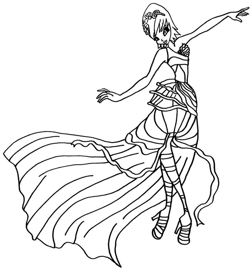 Printable Winx Club Coloring Pages | Coloring Me