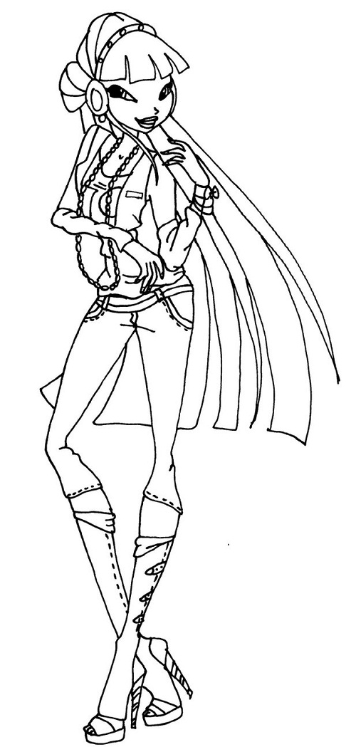 Winx Club Musa Coloring Pages Coloringme Com