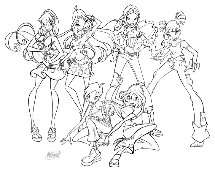 winx club printable coloring pages