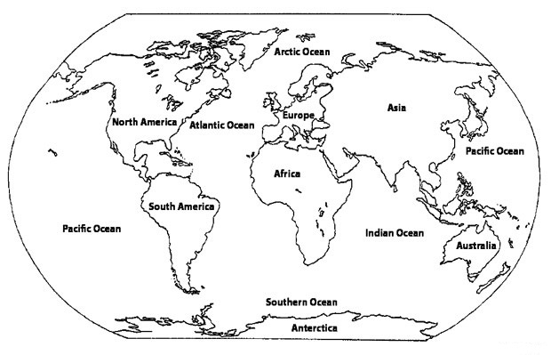 Printable Coloring Pages World Map Images World Map - World map black and white printable with countries