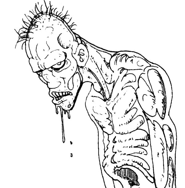 Printable Zombie Coloring Pages Coloring Me
