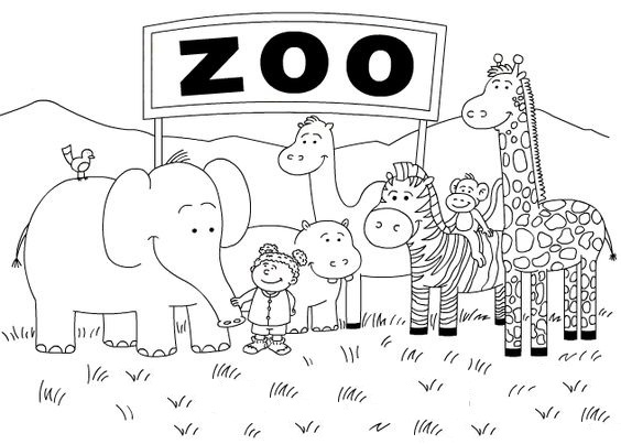 Printable Zoo Coloring Pages Coloring Me Coloring Pages For Kindergarten