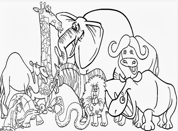 Printable Zoo Coloring Pages | Coloring Me