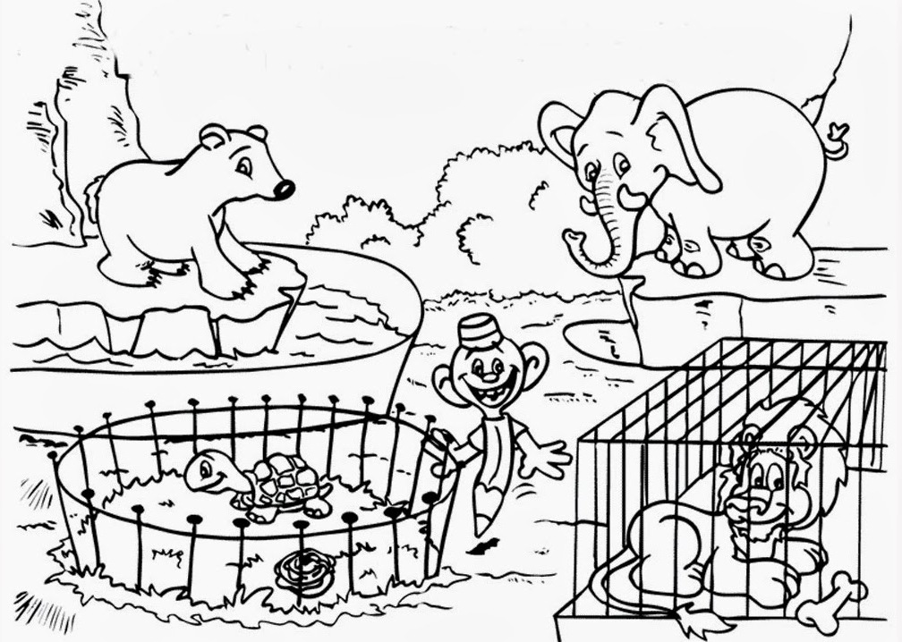 Printable Zoo Coloring Pages Coloringme Com