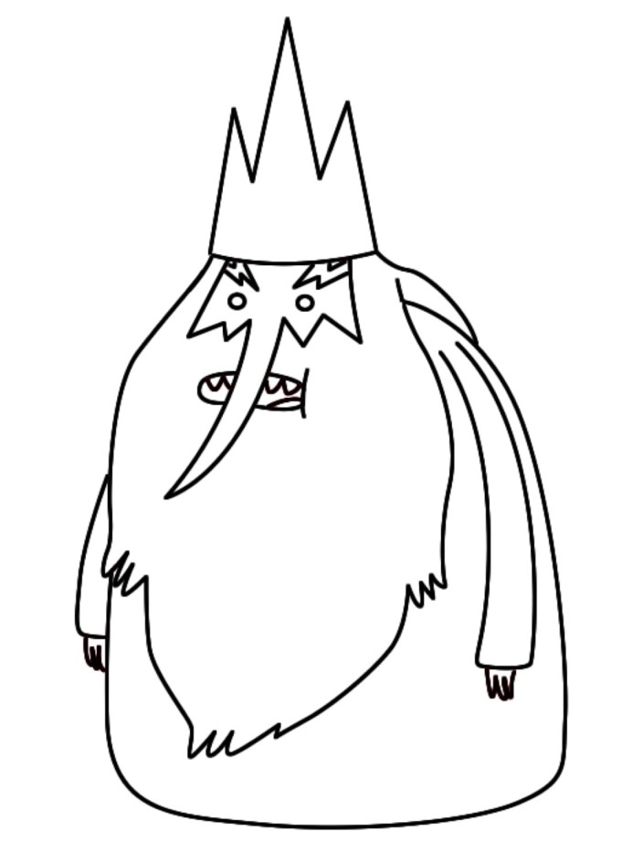 Adventure Time Coloring Pages Ice King