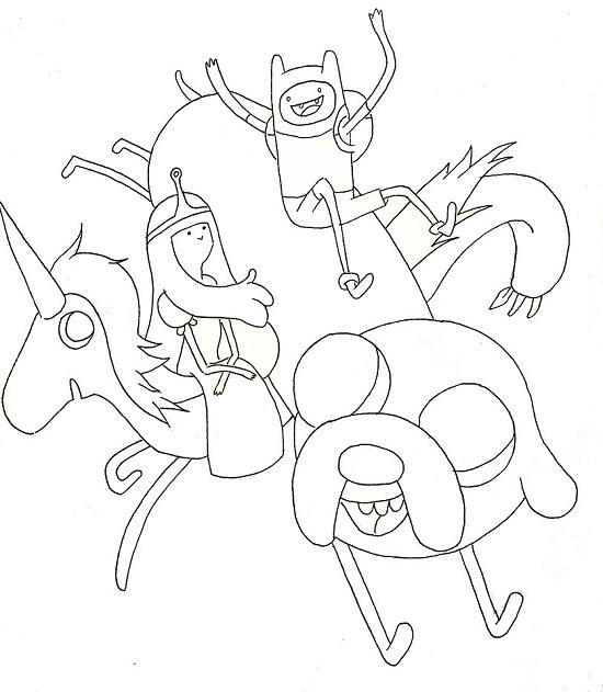 Princess Bubblegum Coloring Page - Free Adventure Time Coloring ... | 631x550