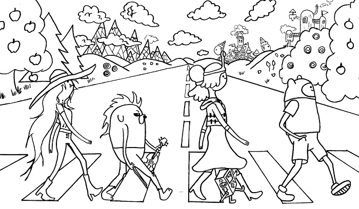Adventure Time Coloring Pages Printable  Vosvetenet