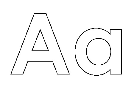 alphabet coloring pages preschool