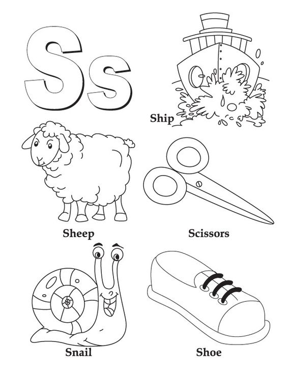 Kindergarten Alphabet Coloring Pages For Kids - Drawing With Crayons