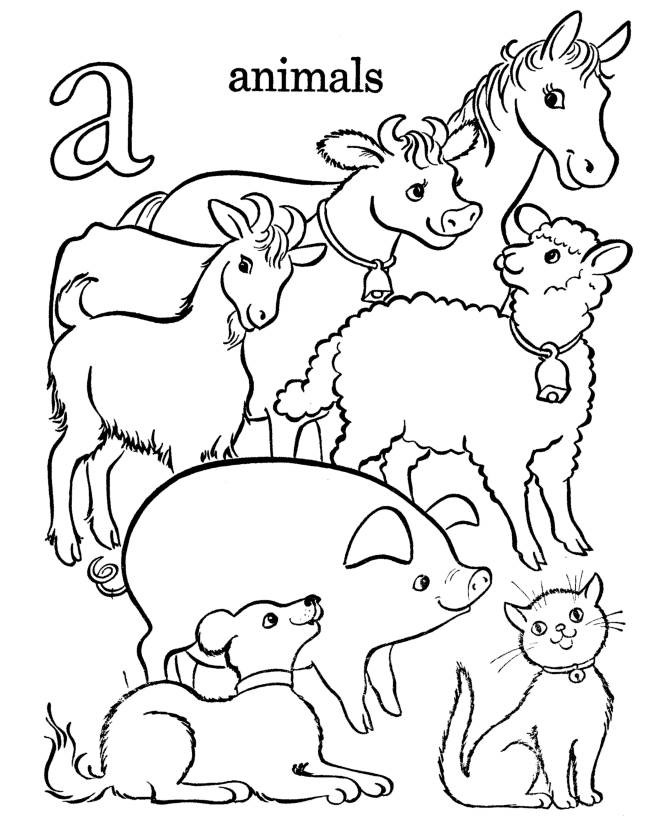 animal coloring pages - Animal Coloring Pages Print