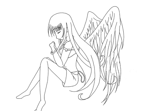 Girl Angel Coloring Pages Coloring Pages