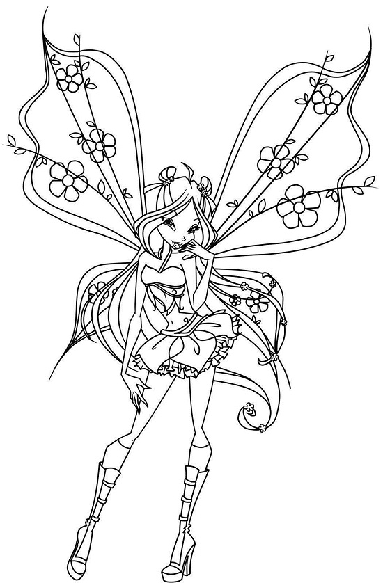 fairiy coloring pages - photo#33