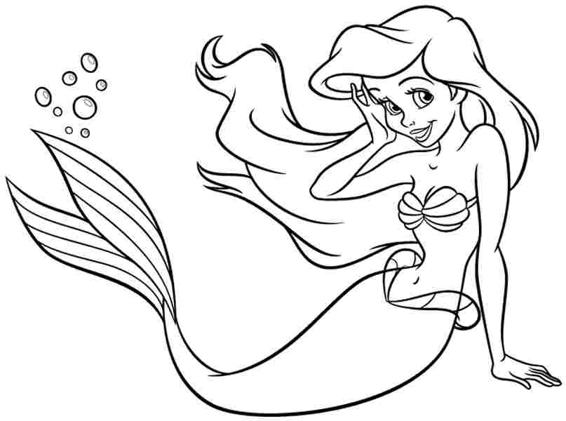 Printable Ariel Coloring Pages Coloring Me Ariel Color Page
