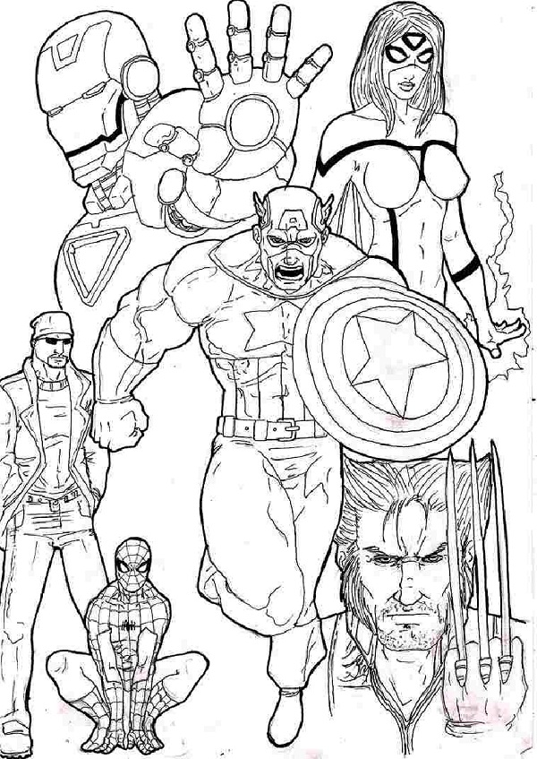 Printable Avengers Coloring Pages | ColoringMe.com