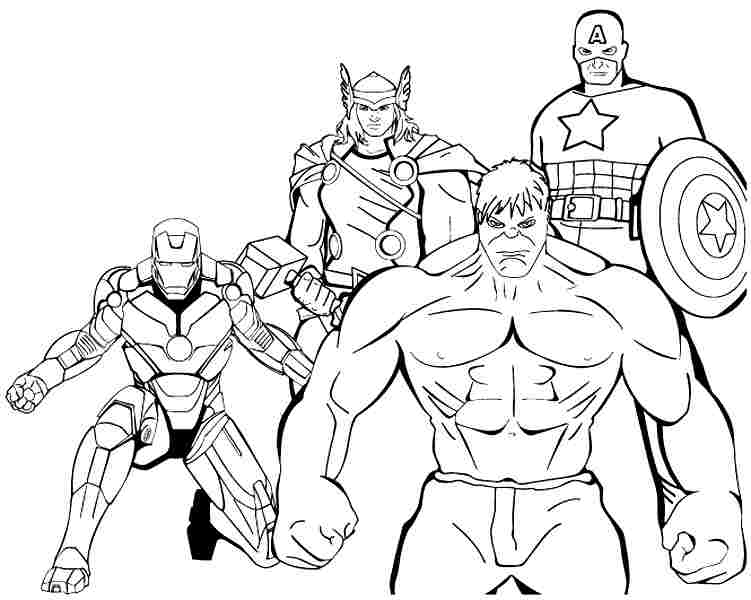 Printable Avengers Coloring Pages Me