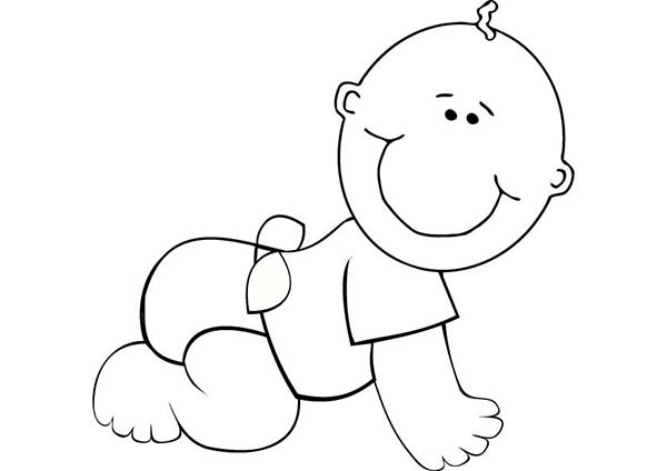 printable baby coloring pages me