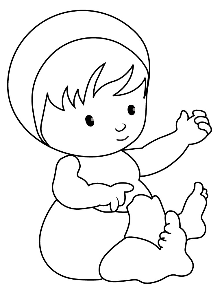 printable baby coloring pages coloring me - Coloring Child