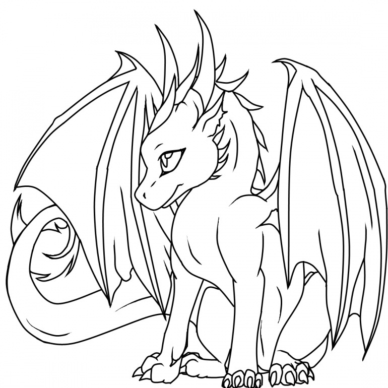 Baby Dragon Coloring Pages | Coloring Me