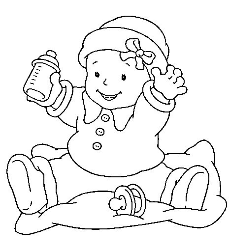Baby Coloring] New Baby Coloring Pages Twisty Noodle, Baby ... | 509x465