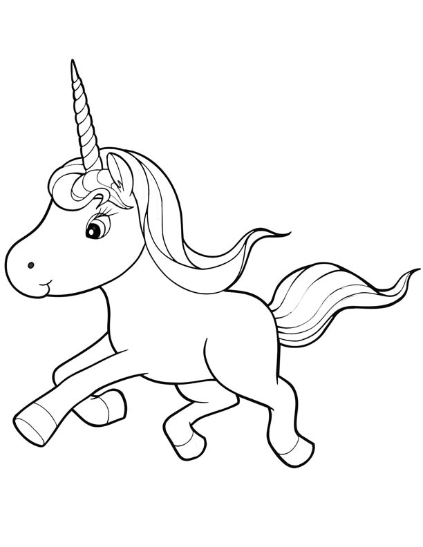 Baby Unicorn Coloring Pages Free Coloring Pages