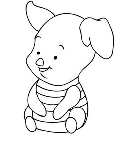 disney baby piglet coloring pages - Disney Baby Piglet Coloring Pages