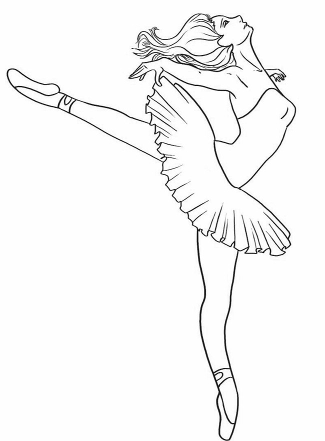 Printable Ballerina Coloring Pages | Coloring Me