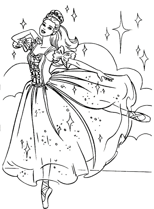 ballerina coloring pages free - photo#16